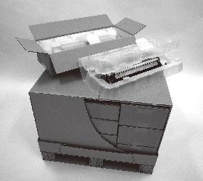 『大型複写機用ユニットの循環型包装』