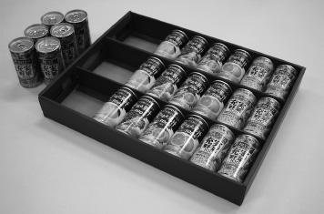 『缶飲料ギフトにおける缶のへこみ低減包装』