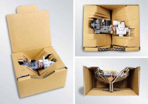 『内容物にフィットする緩衝機能付き包装箱』