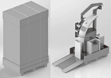 『大型医療支援ロボット用梱包材』