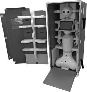 『ヒト型ロボットPepperと人に優しいリユース・コンテナ』