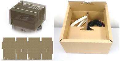 『【適正包装をめざして】1枚のダンボール平板から3機能を有する包装設計』