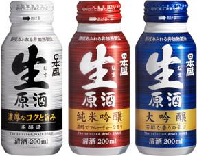 『日本盛 生原酒200mlボトル缶』