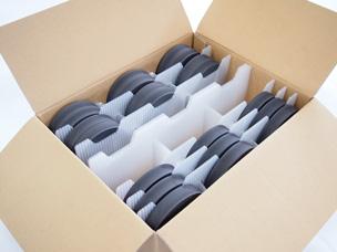 『円形製品の厚み調整可能仕切り包装』