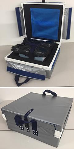 『精密機器用の簡単梱包衝撃吸収クッション箱』