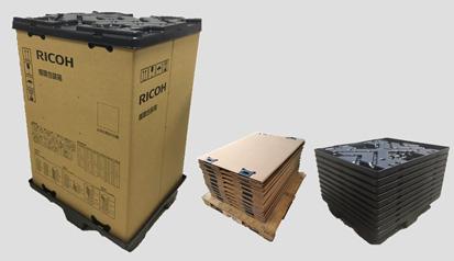 『複写機用新循環型エコ包装』