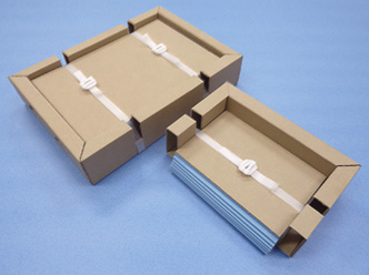 『板ガラス搬送包装の仕様改善』