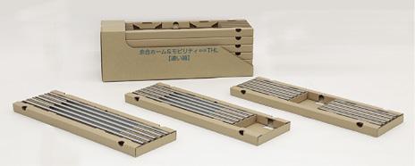 『長さの違う取っ手の仕切り調整機能付き集合包装』