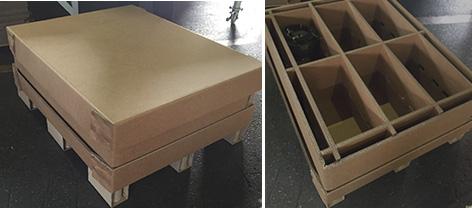 『エレベーター部品輸出用紙製梱包箱』